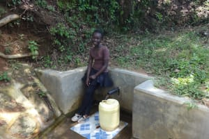 The Water Project: Shitirira Community, Peninah Spring -  Babra Kati