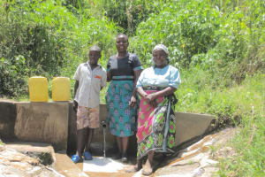 The Water Project: Emasera Community, Visenda Spring -  Joseph Field Officer Betty And Violet