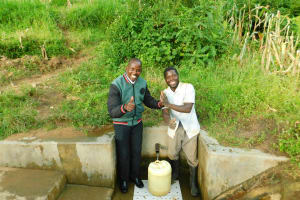 The Water Project: Elutali Community, Obati Spring -  Jonathan And Horren Miheso