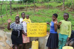 The Water Project: Shihungu Community, Shihungu Spring -  Thank You Ericks Hope