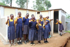 The Water Project: Friends Primary School Givogi -  Girls With Their New Latrines
