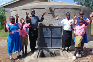 The Water Project: Kimangeti Primary School -  Teachers Join In The Celebration