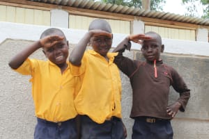 The Water Project: Friends Primary School Givogi -  Boys With Their New Latrines