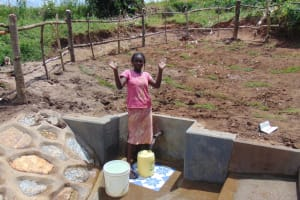The Water Project: Shihungu Community, Shihungu Spring -  Celebrating The New Spring