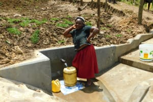 The Water Project: Ikonyero Community, Amkongo Spring -  Posing With The New Spring