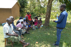 The Water Project: Buyangu Community, Osundwa Spring -  Solar Disinfection Demonstration