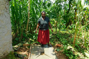 The Water Project: Ikonyero Community, Amkongo Spring -  Proud New Sanitation Platform Owner