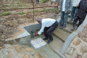 The Water Project: Sasala Community, Kasit Spring -  Enjoying The Clean Water