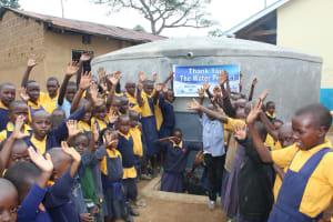The Water Project: Friends Primary School Givogi -  Celebrating The Rain Tank