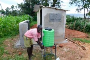 The Water Project: Kimangeti Primary School -  Handwashing Outside The Boys Latrines