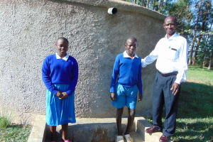 The Water Project: Sabane Primary School -  Sandra Another Student And Mr Ilavonga