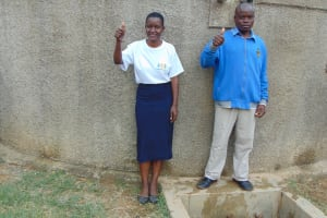 The Water Project: Naliava Primary School -  Mr Masinya With Field Officer Rose Serete