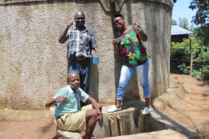 The Water Project: Eshisenye Primary School -  All Smiles At The Rain Tank