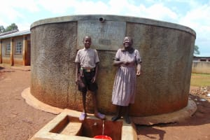 The Water Project: Shitaho Community School -  Joy At The Rain Tank