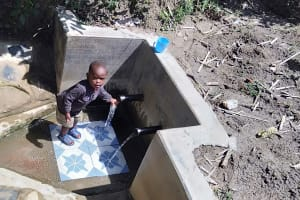 The Water Project: Matsakha Community, Mbakaya Spring -  Child At The Spring