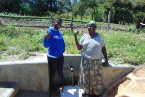 The Water Project: Luyeshe Community, Matolo Spring -  Field Officer Jemmimah Khasoha With Bilha