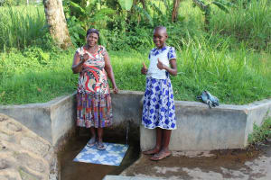 The Water Project:  Felistus And Lucy Give Thumbs Up For Clean Water