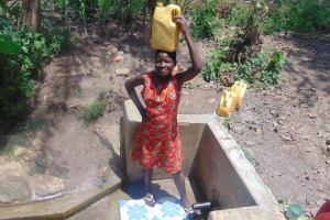 The Water Project: Matsakha Community, Siseche Spring -  Sharon Shanjilia With Water