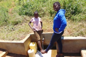 The Water Project: Shirugu Community, Jeremiah Mashele Spring -  A Girly Moment Featuring Precious And Jemmimah