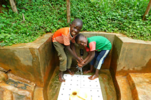 The Water Project: Asimuli Community, John Omusembi Spring -  Kids Enjoying The Spring Water