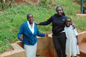 The Water Project: Chepnonochi Community, Chepnonochi Spring -  Christine Laura And Sarah