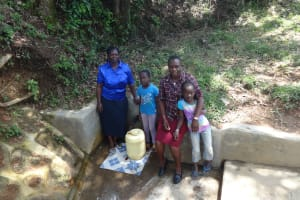 The Water Project: Shitirira Community, Peninah Spring -  Fetching Water