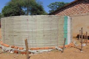 The Water Project: Lwanga Itulubini Primary School -  Tank Walls Going Up