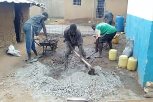 The Water Project: Friends Primary School Givogi -  Mixing Cement