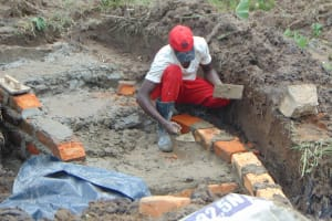 The Water Project: Sasala Community, Kasit Spring -  Brick Setting Begins