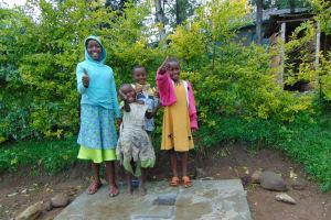 The Water Project: Sasala Community, Kasit Spring -  Thumbs Up For Sanitation Platforms