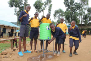 The Water Project: Friends Primary School Givogi -  Boys At A Handwashing Station