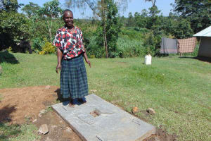 The Water Project: Buyangu Community, Osundwa Spring -  Proud New Sanitation Platform Owner
