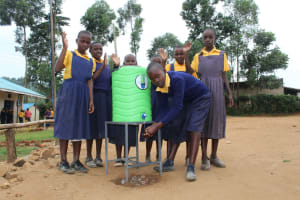 The Water Project: Friends Primary School Givogi -  Girls At A Handwashing Station