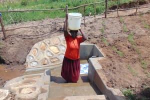 The Water Project: Shihungu Community, Shihungu Spring -  A Few Drops Escape