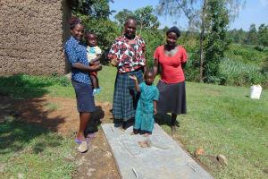 The Water Project: Buyangu Community, Osundwa Spring -  New Sanitation Platform Owners