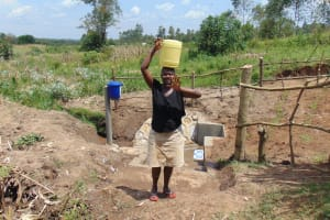 The Water Project: Shihungu Community, Shihungu Spring -  Hello From Shihungu Spring