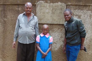 The Water Project: Kapsotik Primary School -  Mr Imbuizi Sheila And Field Officer Samuel Samidi