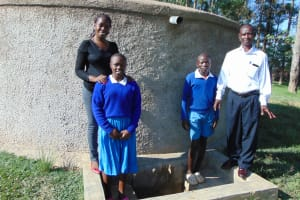 The Water Project: Sabane Primary School -  Field Oficer Christine Masinde Joins The Photo