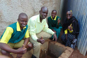 The Water Project: Gemeni Salvation Primary School -  Field Officer Mary Afandi Joins The Photo Right