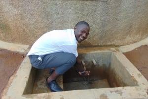 The Water Project: Precious School Kapsambo Secondary -  Student At The Rain Tanks Tap