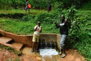 The Water Project: Shirakala Community, Ambani Spring -  John Lihavo And Titus Isaac