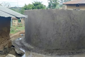 The Water Project: Friends Primary School Givogi -  Cement Walls On Rain Tank
