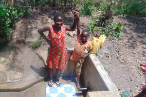 The Water Project: Matsakha Community, Siseche Spring -  Sharon With Another Child At The Spring