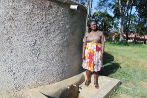 The Water Project: Sabane Primary School -  School Staff At The Rain Tank