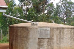 The Water Project: Gidagadi Secondary School -  Gidagadi Rain Tank Looking Good