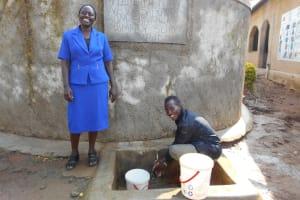 The Water Project: Shivanga Primary School -  Madam Miriam Memeti With Ian