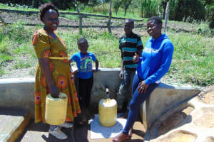 The Water Project: Luyeshe Community, Matolo Spring -  Jemmimah With Happy Community Members