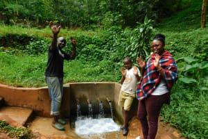 The Water Project: Shirakala Community, Ambani Spring -  Titus John And Jacklyne