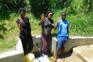 The Water Project: Chegulo Community, Werabunuka Spring -  Margret Jacklyne And Ruth