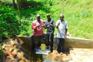 The Water Project: Koloch Community, Solomon Pendi Spring -  Field Officer Wilson Kipchoge Center Joins The Photo